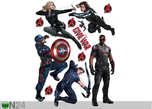 Seinakleebis Captain America 65x85 cm ED-98691