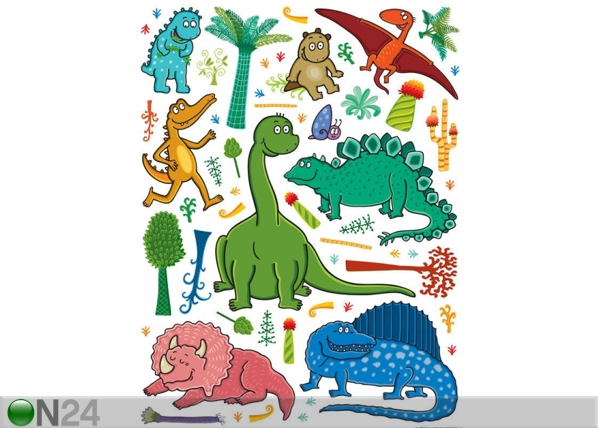 Seinakleebis Dinosaur 2, 65x85 cm ED-98730