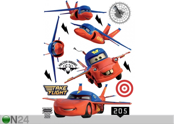 Seinakleebis Disney Cars flies 65x85 cm ED-98762