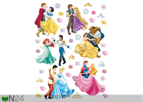 Seinakleebis Disney princesses and princes 65x85 cm ED-98818