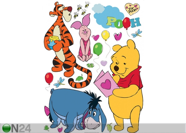 Seinakleebis Disney Winnie the Pooh and friends 65x85 cm ED-98852