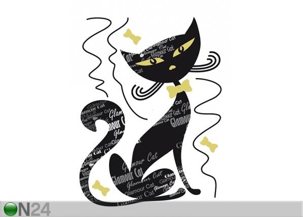 Seinakleebis Black cat 65x85 cm ED-98914