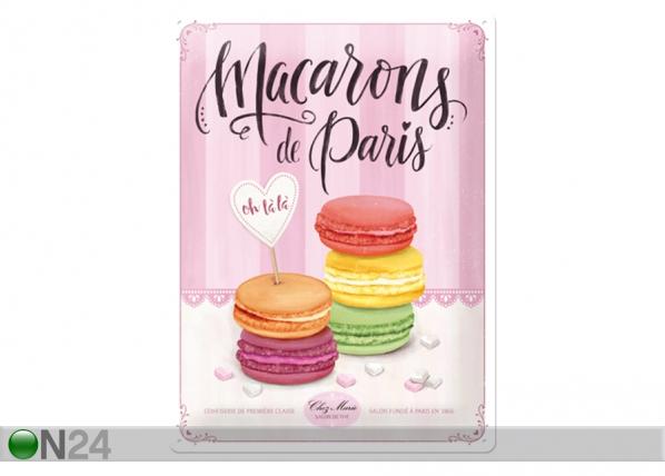 Металлический постер в ретро-стиле Macarons de Paris 30x40 см SG-99031