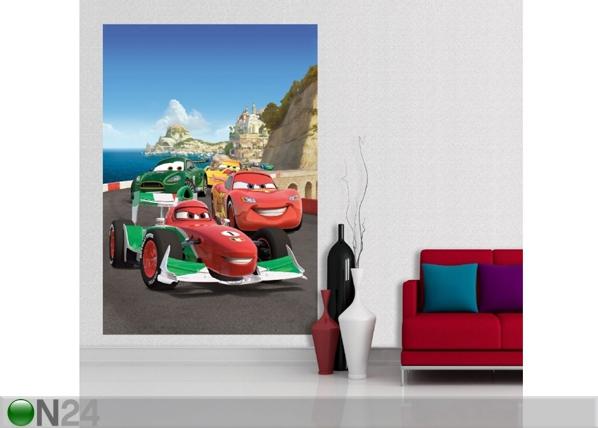 Fleece kuvatapetti DISNEY CARS 2 RACE 180x202 cm, AG Design