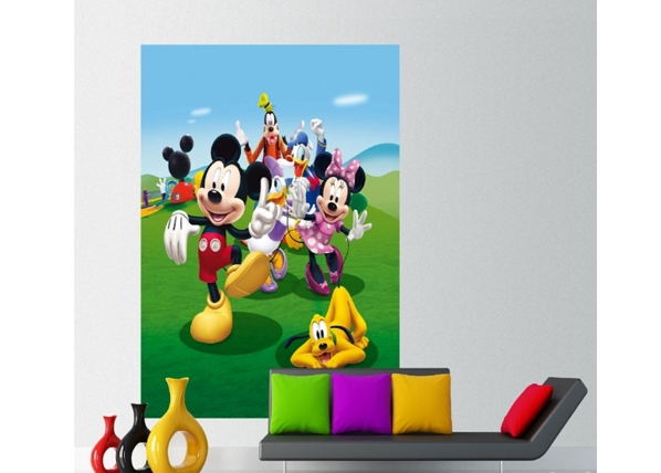 Fleece kuvatapetti DISNEY MICKEY AND FRIENDS 180x202 cm, AG Design