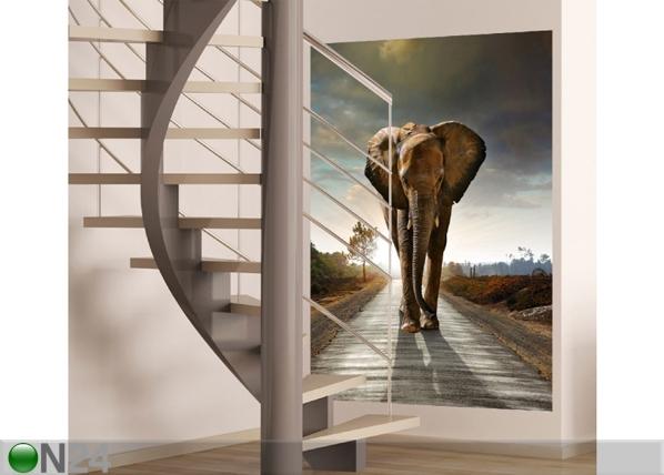 Fleece kuvatapetti ELEPHANT 180x202 cm, AG Design