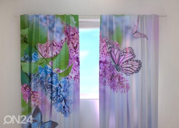 Poolpimendav kardin Lilac and butterflies 240x220 cm ED-99344