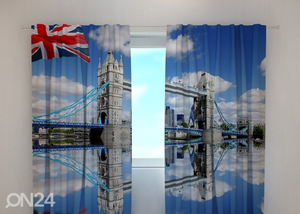 Pimentävä verho LONDON BRIDGE 240x220 cm ED-99388