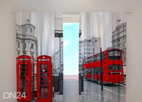 Läpinäkyvä verho LONDON BUS 240x220 cm, Wellmira