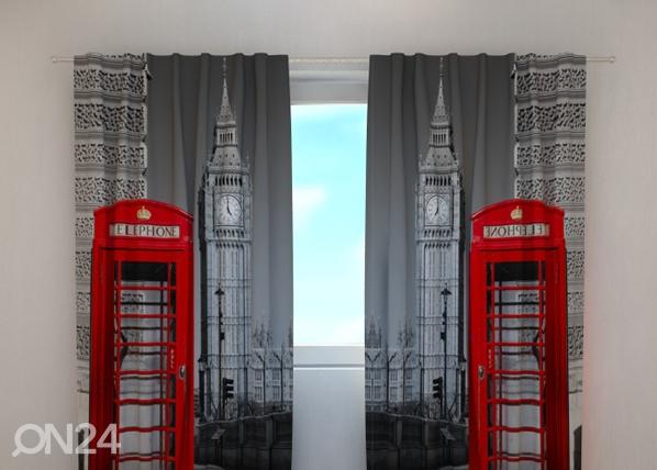 Pimentävä verho LONDON TELEPHONE 240x220 cm, Wellmira