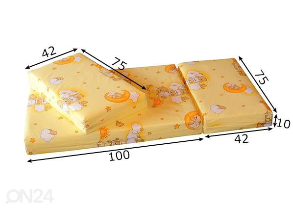64b7b32b60c Pikendatav madrats Teddy Bear kollane 75x100+42+42 cm HA-99441 ...