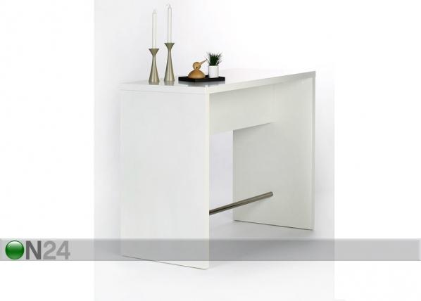 Baarilaud 120x60 cm, valge AY-99734