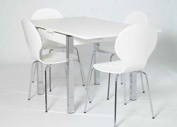 Jatkettava ruokapöytä 80x80-147 cm, valkoinen AY-99736