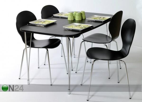 Обеденный стол 138x80 cm, чёрный AY-99745