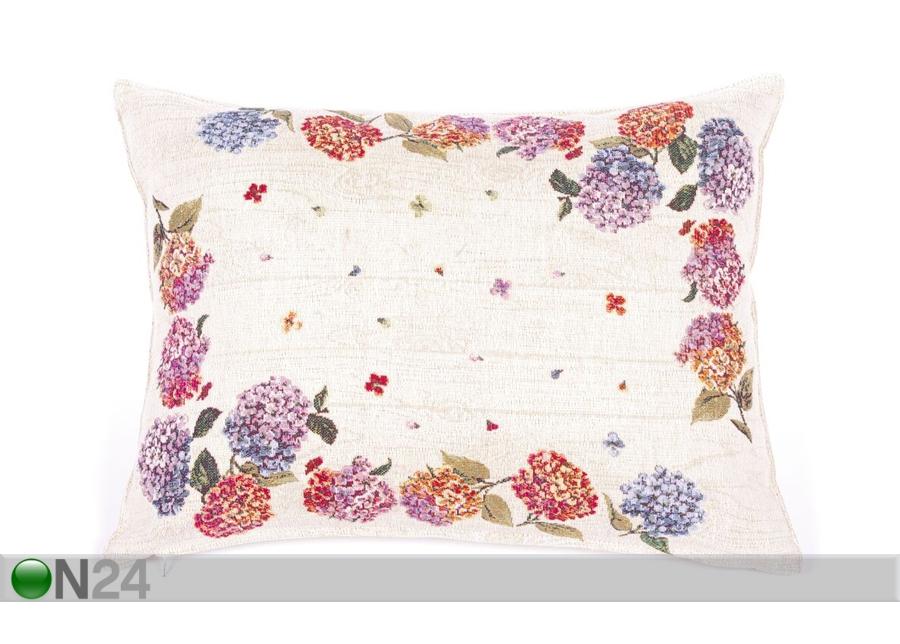 laadukkaita tuotteita iso ale halpa hinta Gobeliinikankainen koristetyyny HORTENSIA 35x47 cm