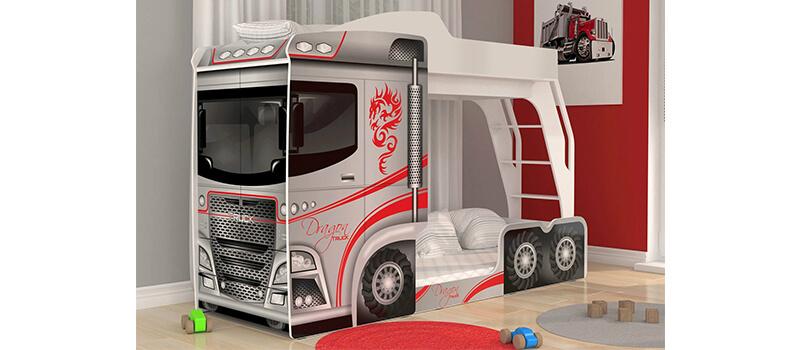 Двухъярусная кровать в виде грузовика