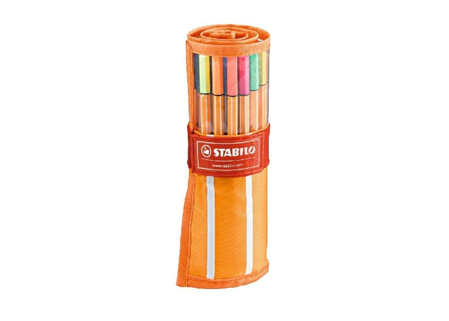 Kuitukärkikynät STABILO POINT 88, 30 väriä