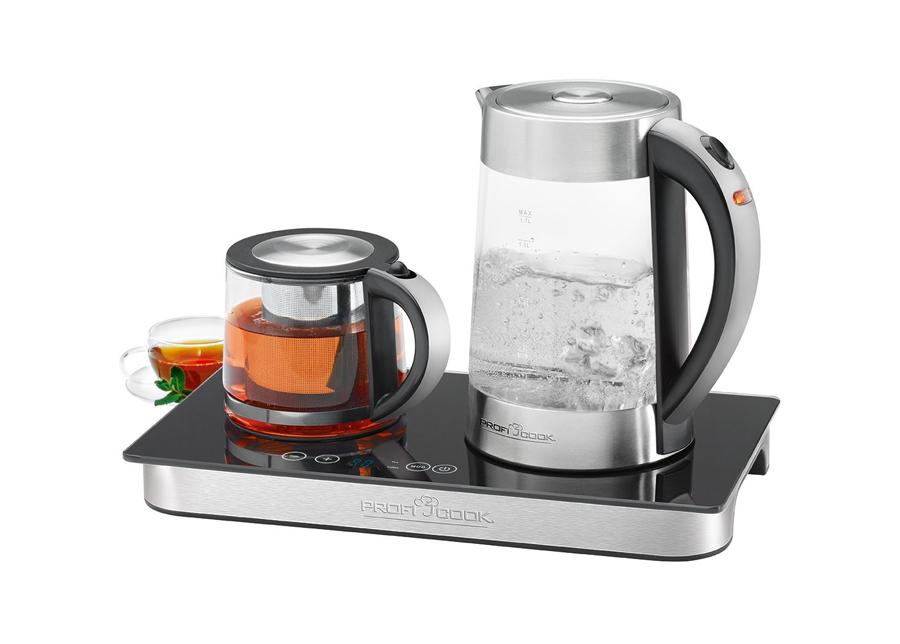 Vedenkeitin, teekannu ja lämpölevy ProfiCook 1,7 L