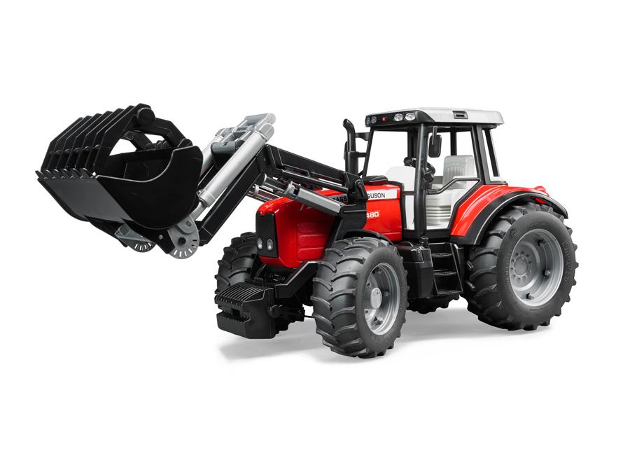 MASSEY FERGUSON traktori+kauha 1:16 BRUDER