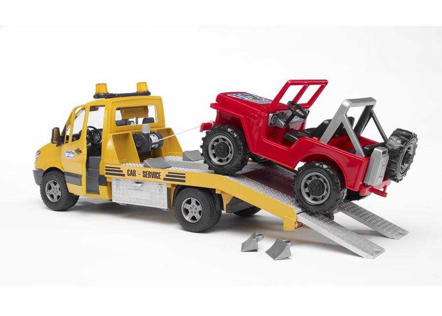 MB SPRINTER hinausauto+maastoauto 1:16 BRUDER