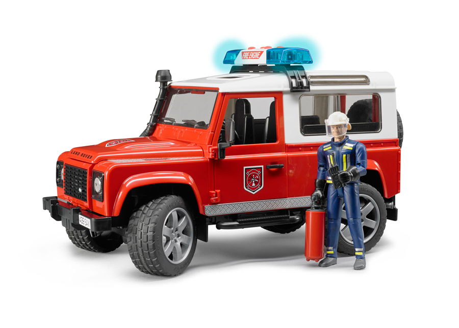 LAND ROVE paloauto äänellä ja valolla 1:16 BRUDER