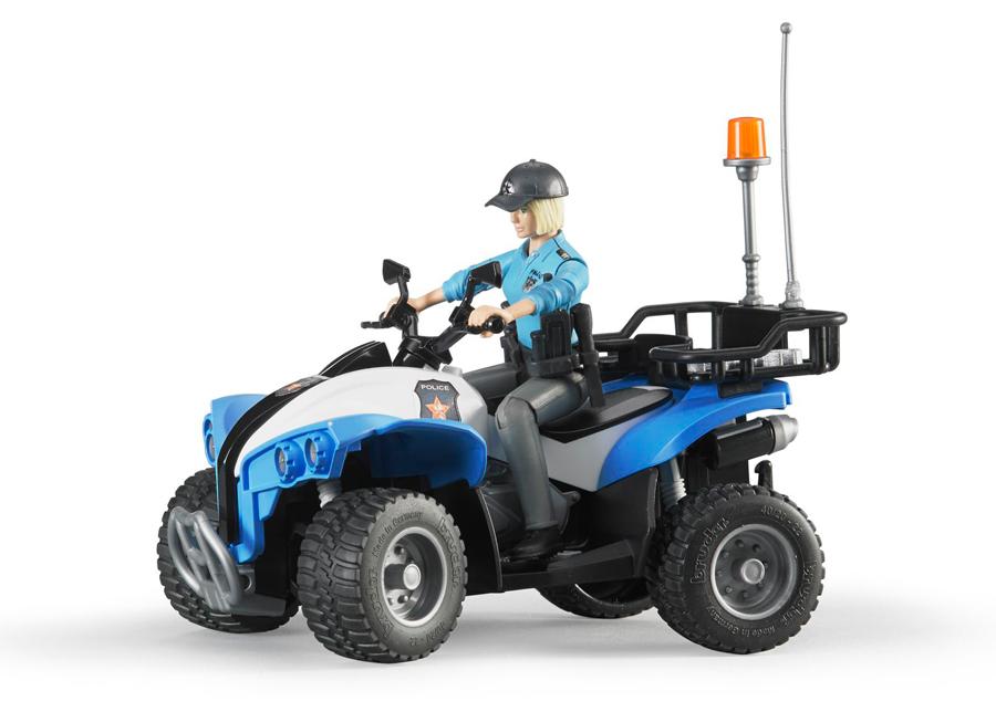 Poliisi ATV+hahmo 1:16 BRUDER