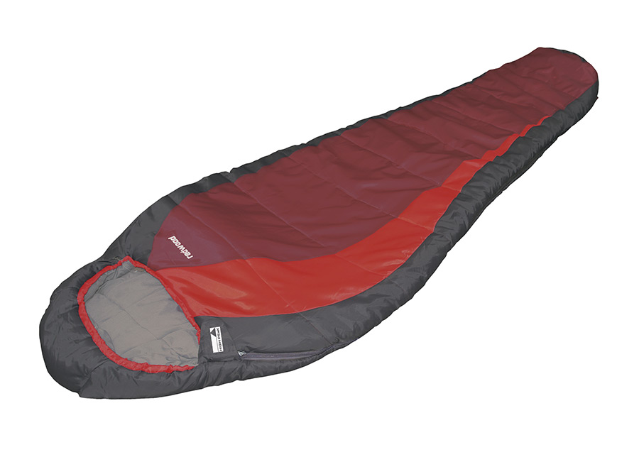 Makuupussi HIGH PEAK REDWOOD tummanharmaa/punainen