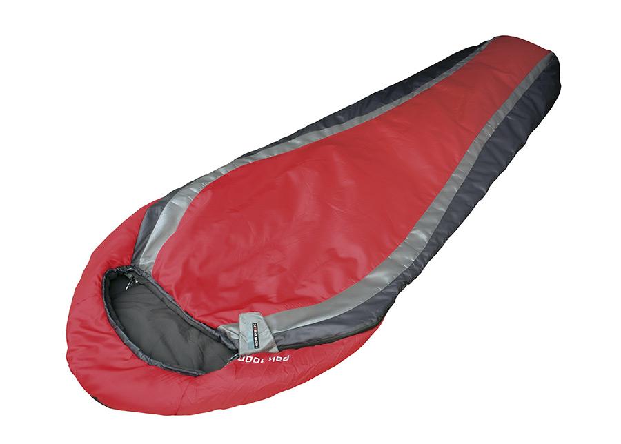 Makuupussi HIGH PEAK PAK 1000 punainen/tummanharmaa/harmaa