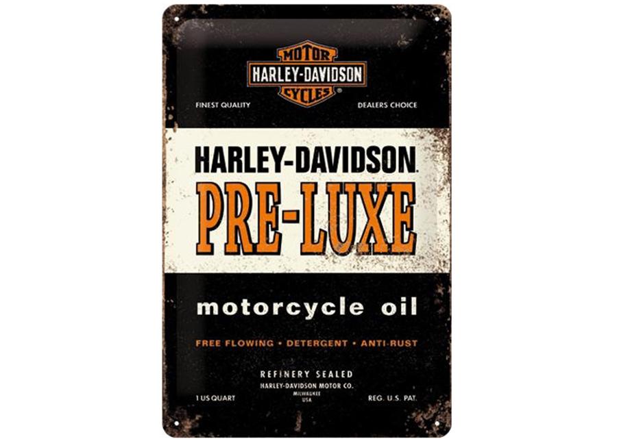 Retro metallijuliste HARLEY-DAVIDSON PRE-LUXE 20x30 cm