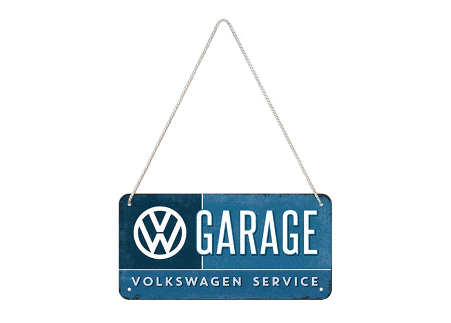 Retro metallijuliste VW GARAGE 10x20 cm