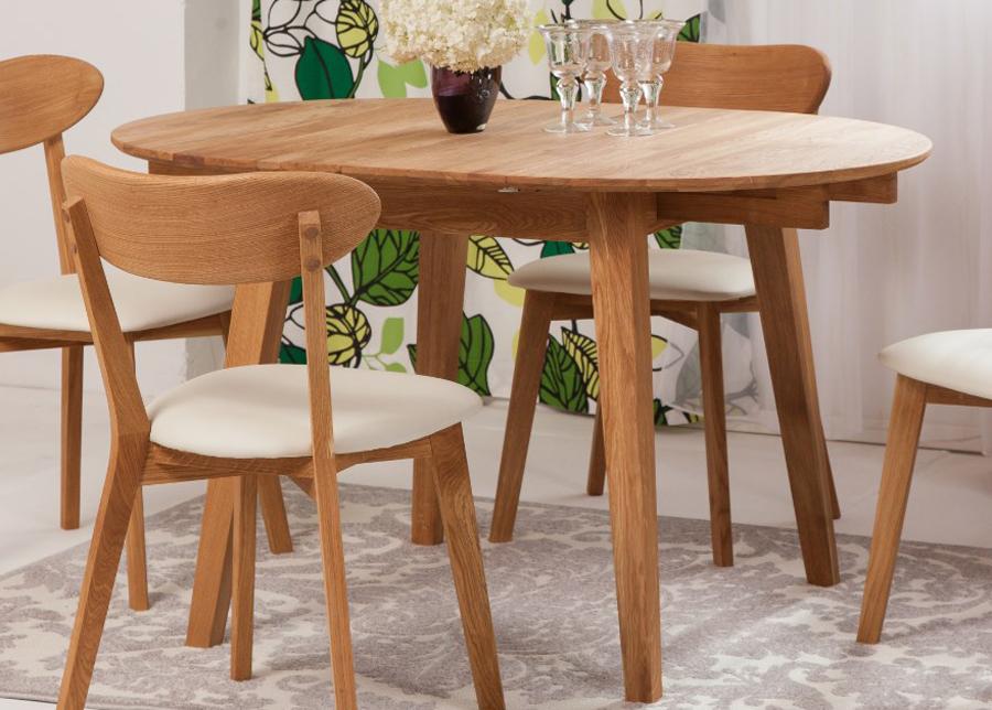 Jatkettava ruokapöytä tammi Basel 90x90-130 cm