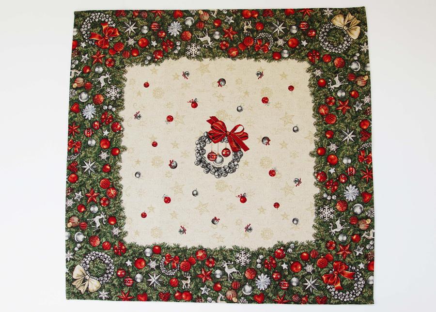 Gobeliinikankainen joululiina SPRUCE 100x100 cm