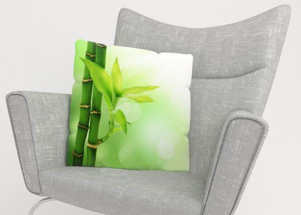 Koristetyynyliina GREEN BAMBOO 40x40 cm