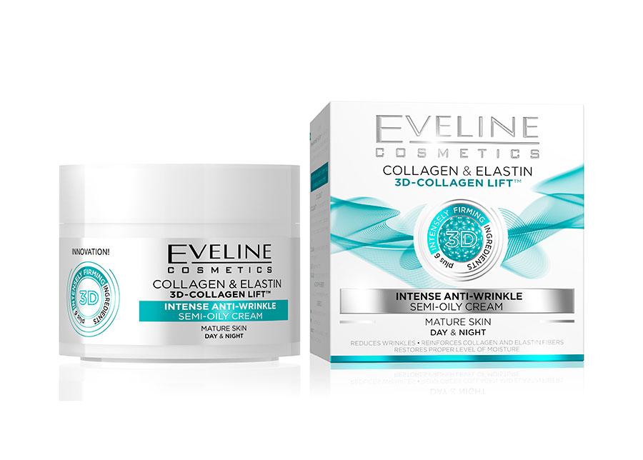 Nature Line kasvovoide 3D-kollageenilla Eveline Cosmetics5 0ml