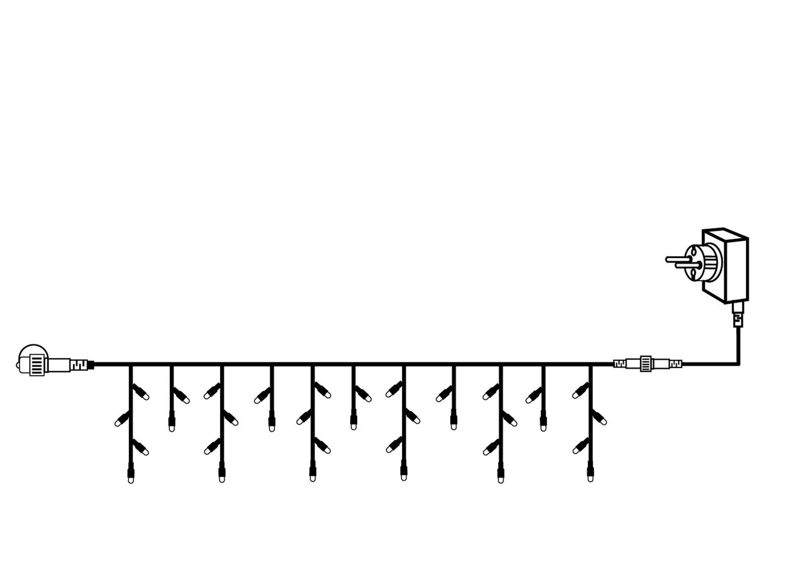 Jatkettava valoketju START ICICLES 3x0,4 m