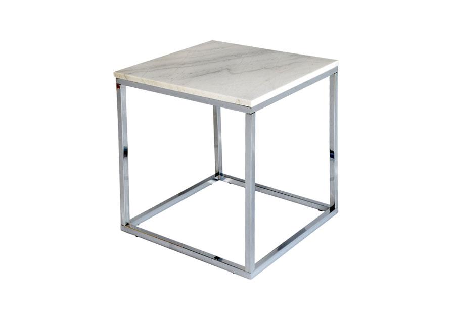 Marmori sohvapöytä ACCENT CHROME 50x50 cm