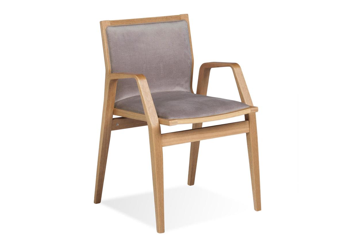 Tuoli MILONGA (tumma tammi + kangas)