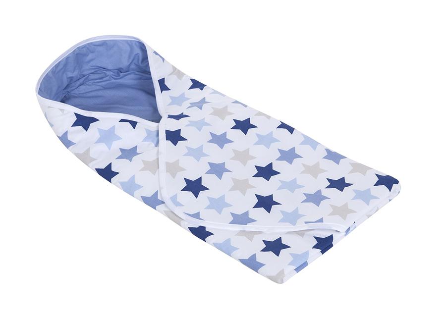 Kapalopussi MIXED STARS BLUE 108x95 cm
