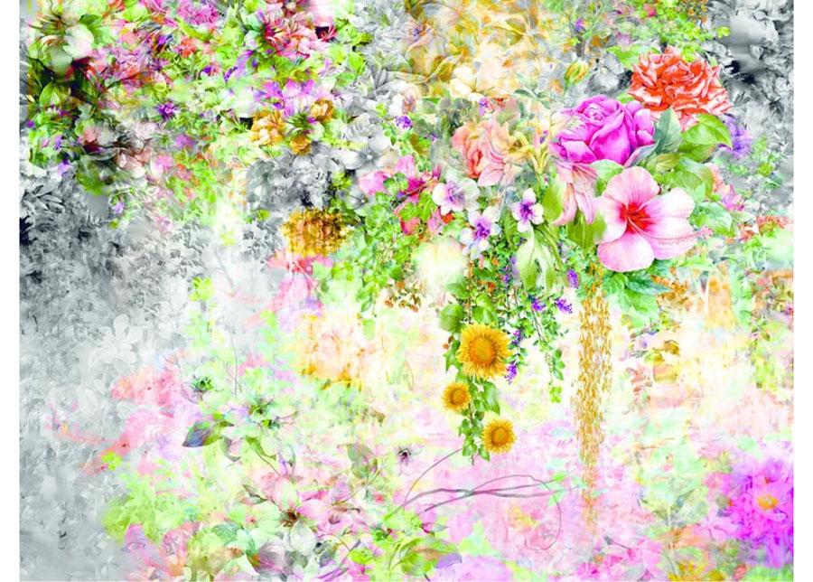 Fleece-kuvatapetti FLOWERS 1, 360x270 cm
