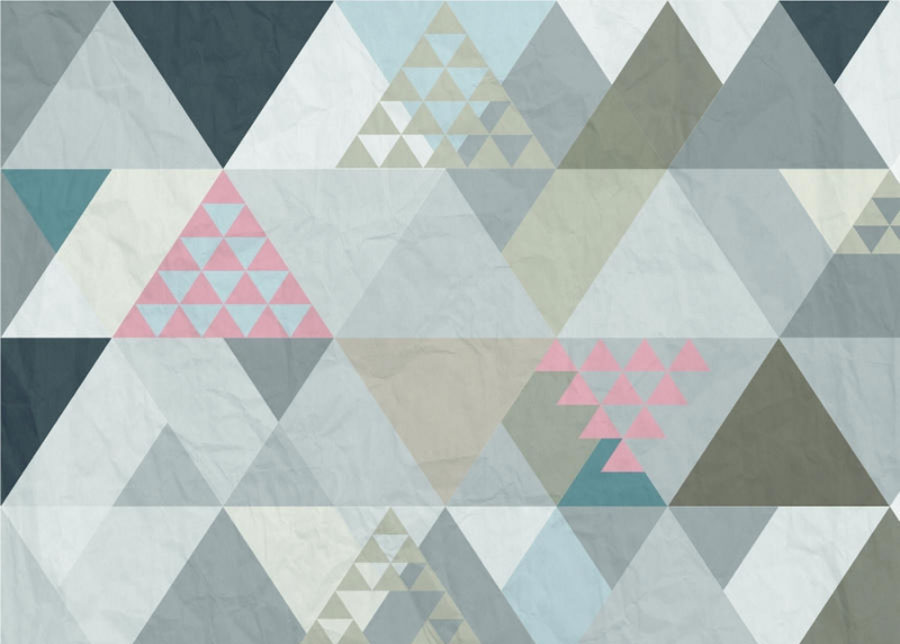 Fleece-kuvatapetti TRIANGLES 1, 360x270 cm