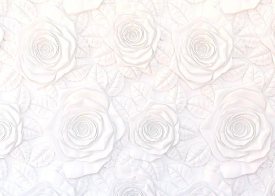 Fleece-kuvatapetti FLOWERS 3D, 360x270 cm