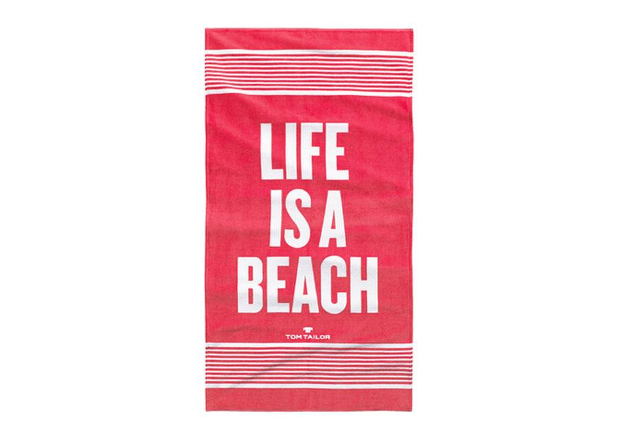 Rantapyyhe TOM TAILOR, LIFE IS A BEACH 85x160 cm