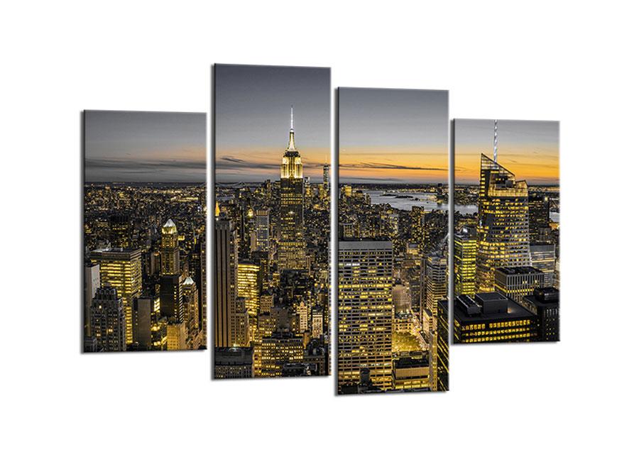 Neliosainen taulu NEW YORK SKYLINE 80x130 cm
