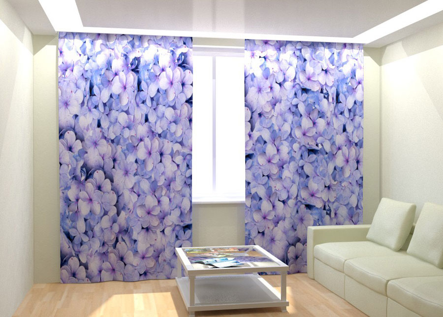 Kuvaverhot BLUE HYDRANGEA 300x260 cm