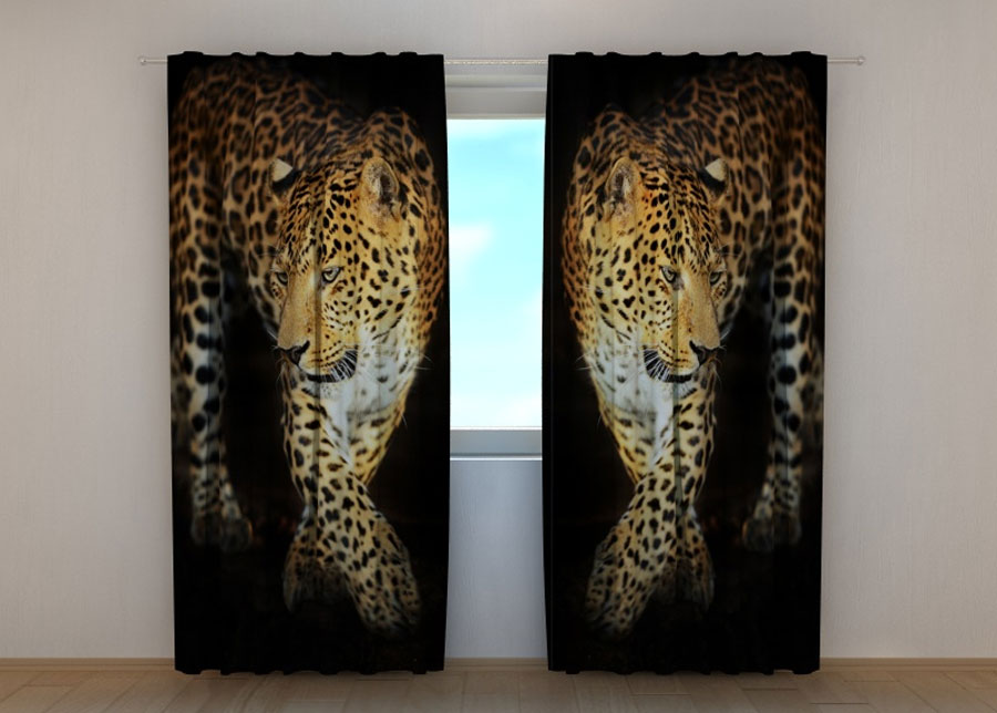 Puolipimentävä verho BEAUTIFUL JAGUAR 240x220 cm