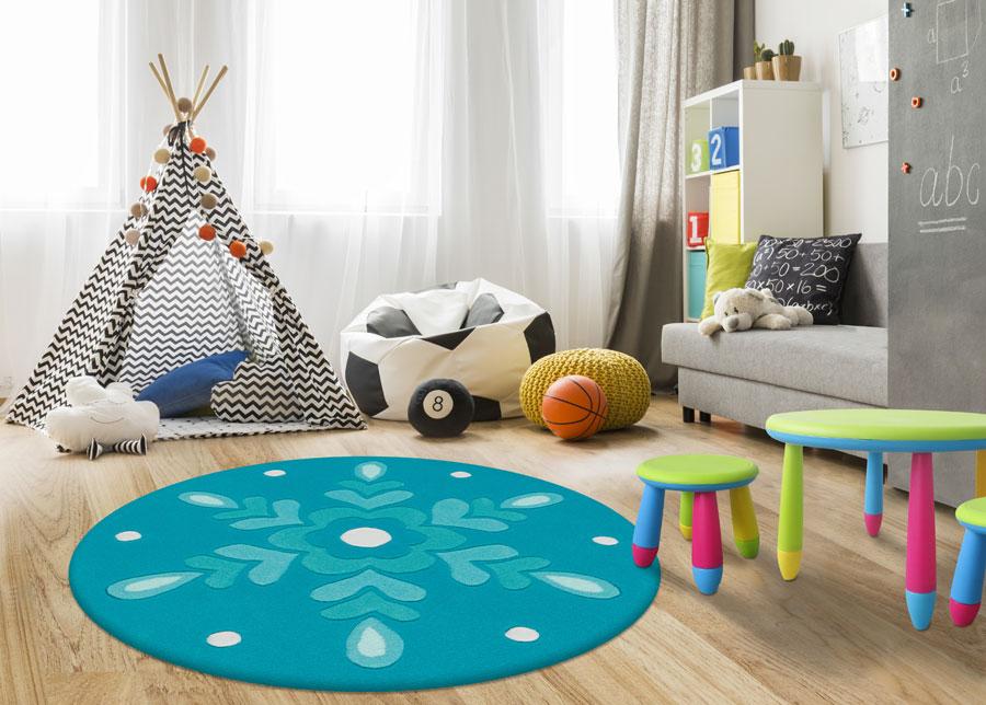 Lasten matto pyöreä Ø130 cm