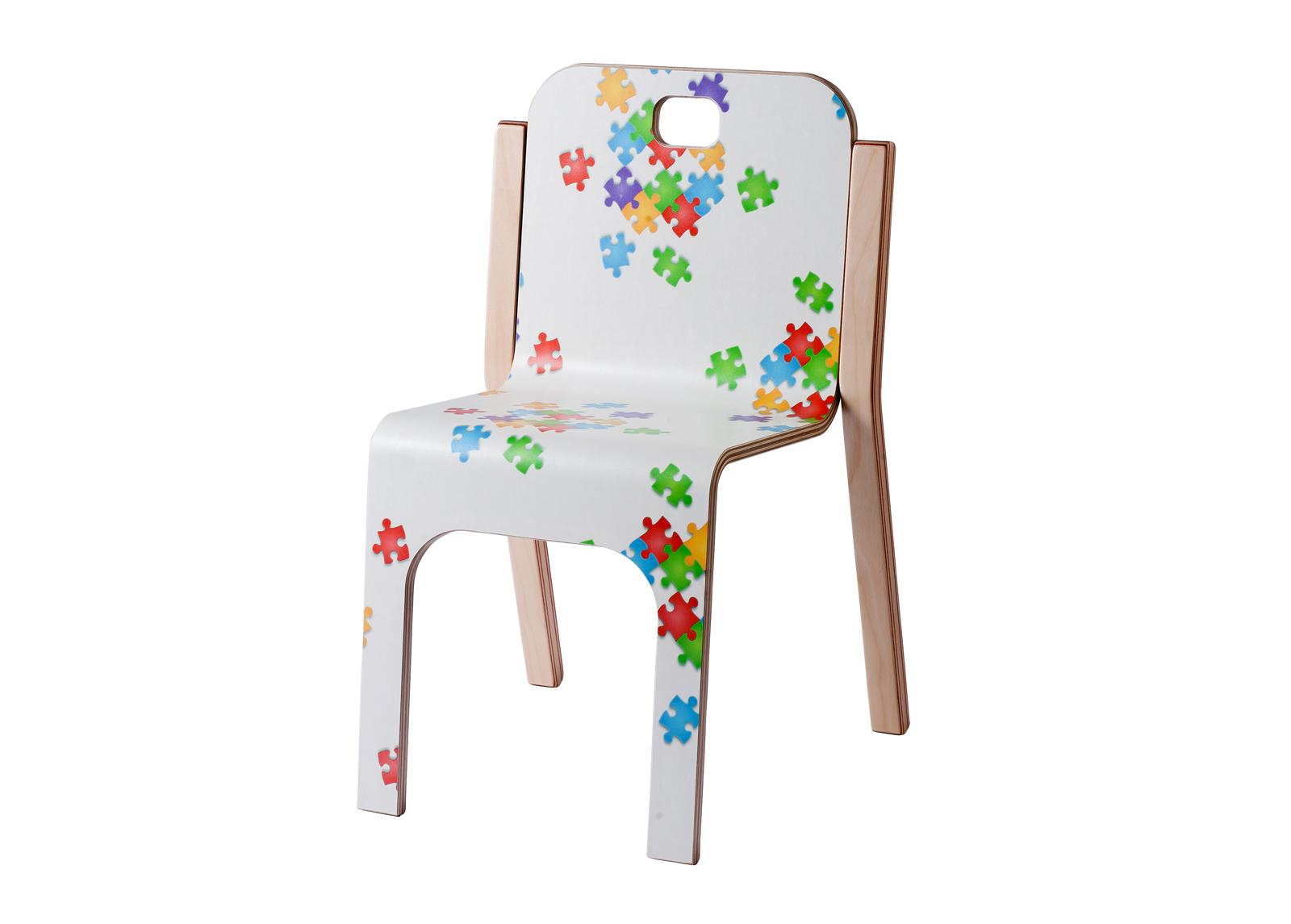 Lasten tuoli TOMMY 3 PUZZLE h 57/35 cm