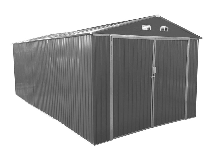 Metallinen autotalli/puutarhavaja 17m²