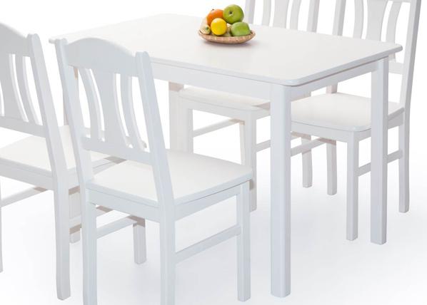 Ruokapöytä PER 120x70 cm, valkoinen