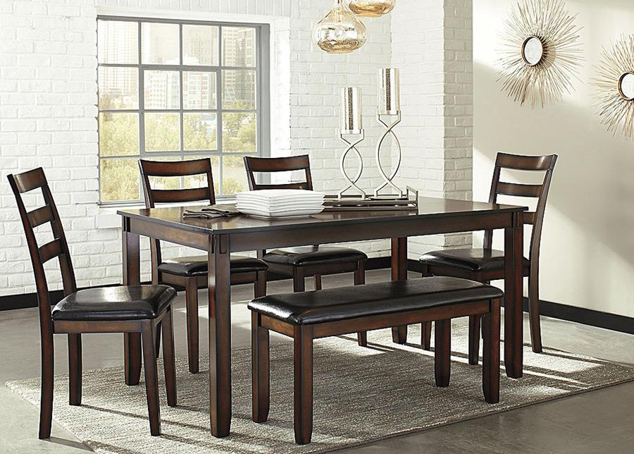 Ruokapöytä 153x92 cm + 4 tuolia ja penkki
